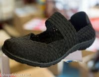 Adesso all elastic upper amazingly light summer black shoe. Available right now from our Whitchurch Hampshire shop in North Hampshire on the Hampshire, Berkshire border between Newbury, Basingstoke, Winchester and Andover